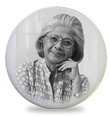 Memorial Photo Plaque in a Circular Shape