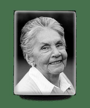 Rectangular memorial photo plaque in black & white